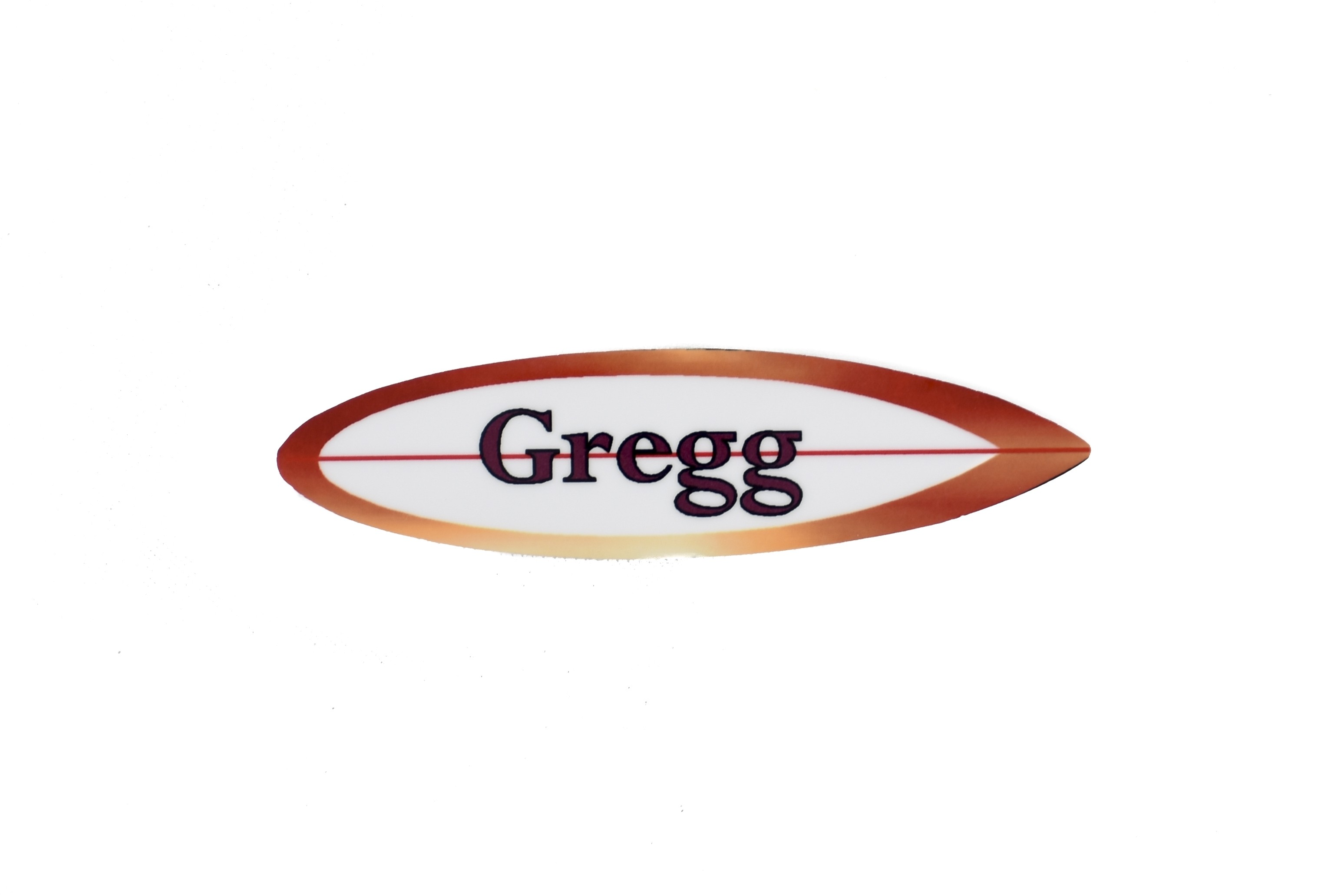 Custom Shape Surfboard Glossy Unisub Name Tag