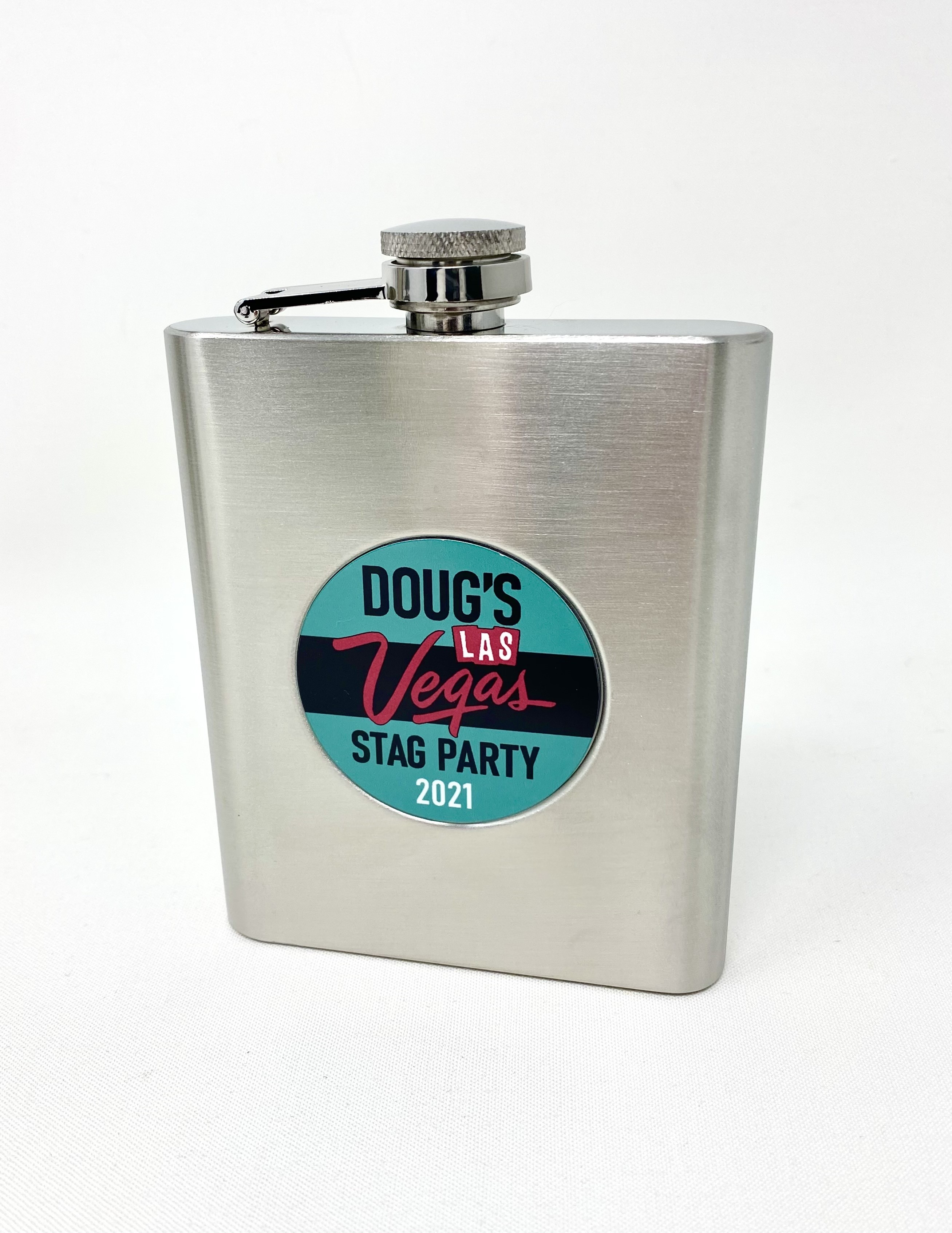 """Flask 6 oz. Stainless Steel with 2"""" Insert"""