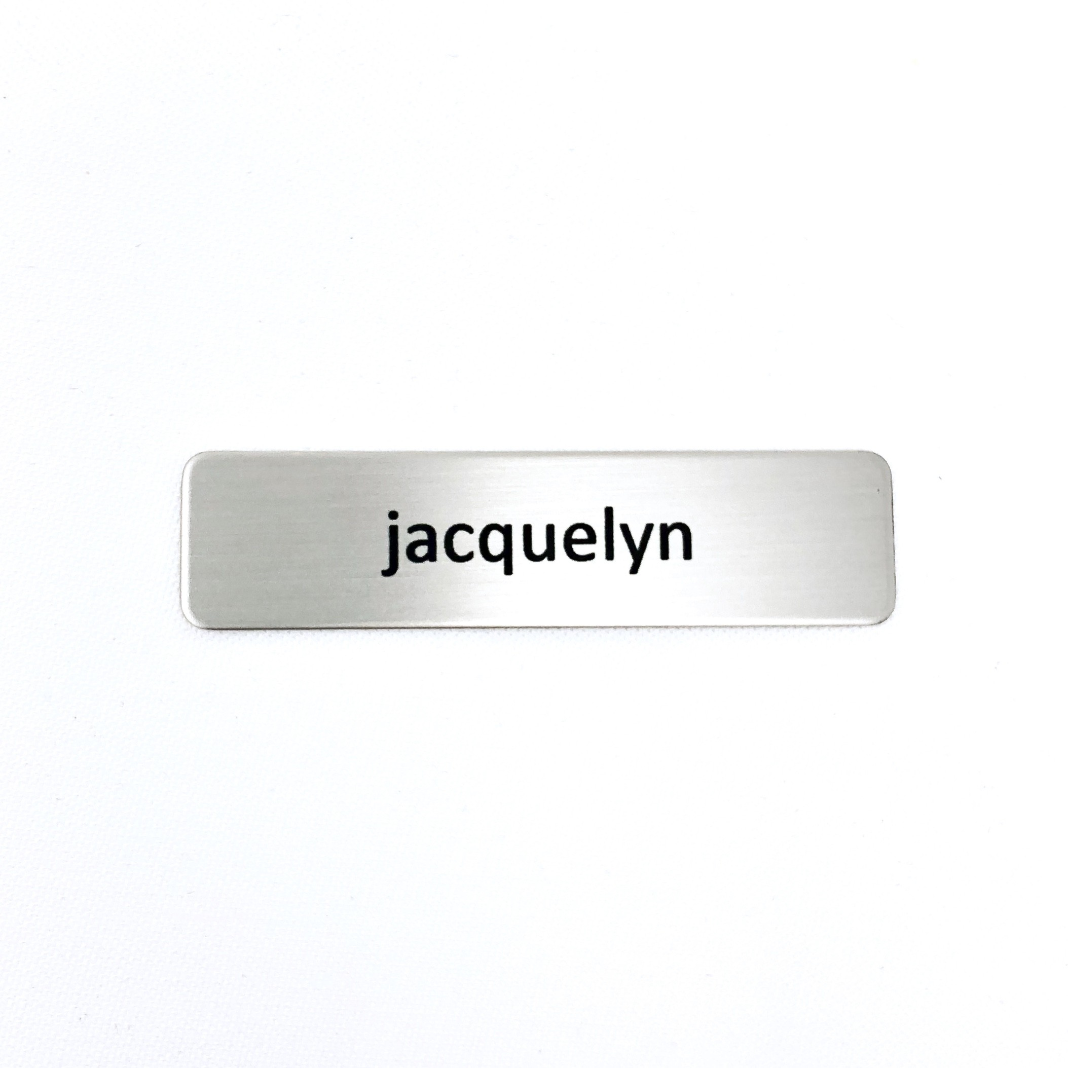 Renaissance Silver Nickel Name Tag