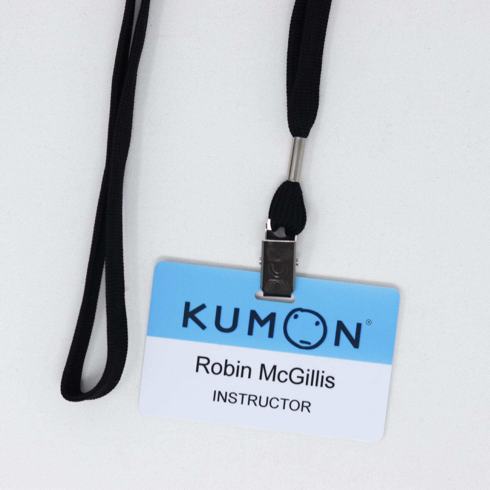 Kumon ID Tag on Lanyard