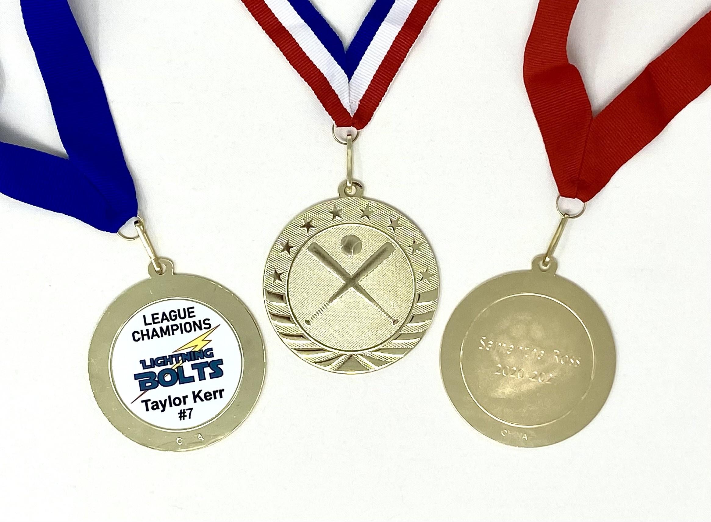 """Baseball Gold Medal 2 3/4"""""""