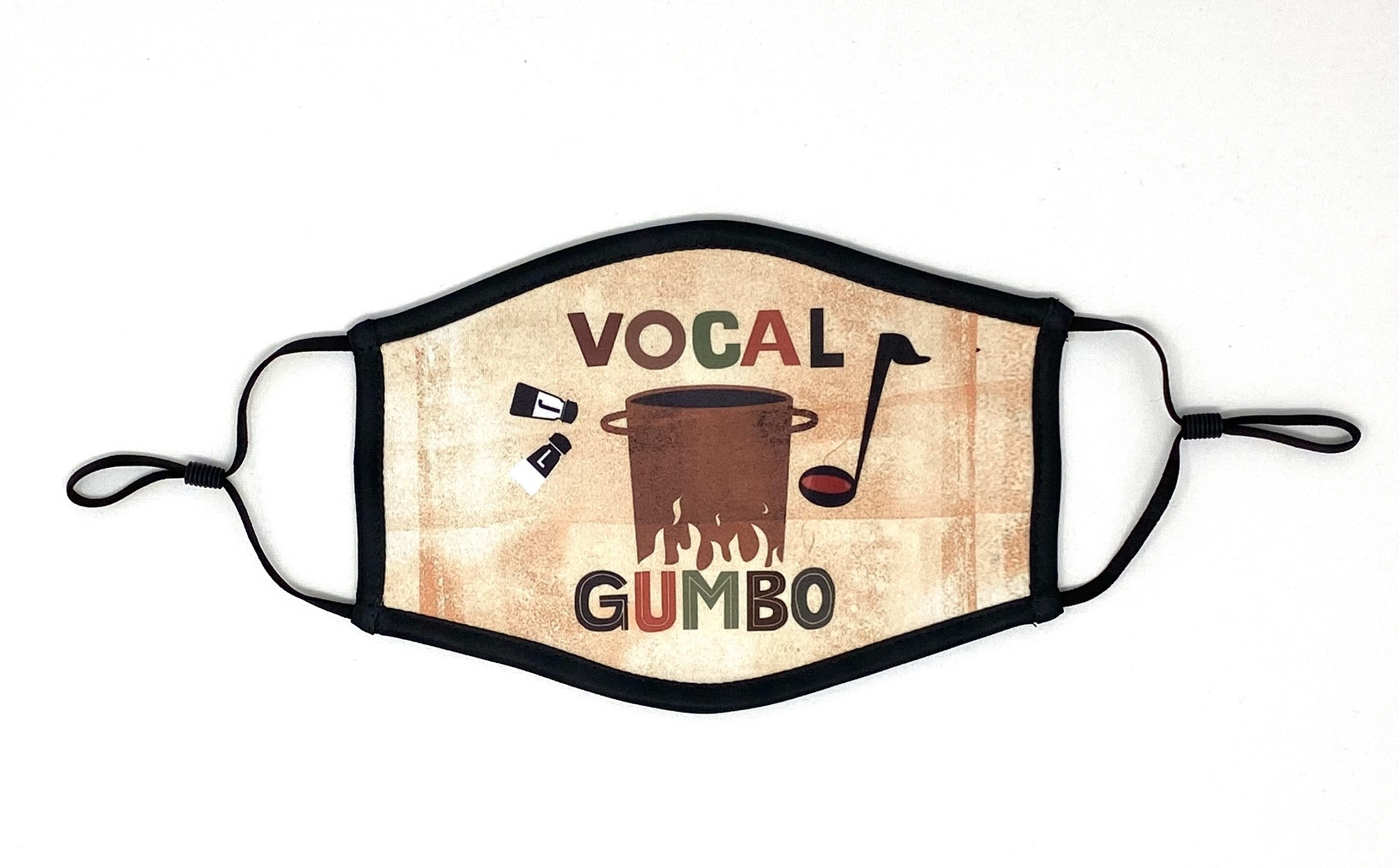 VOCAL GUMBO (Janis Siegel of The Manhattan Transfer, and Lauren Kinhan of New York Voices) 3 Layer Face Mask