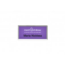 Silver Beveled Name Tag