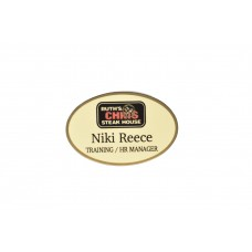 Ruth's Chris Preferred Gold Oval Name Tag