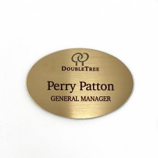 Brass Oval Name Tag