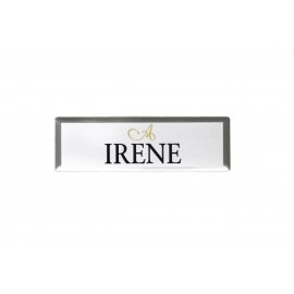 "Ayres 1x3"" Beveled Name Tag"