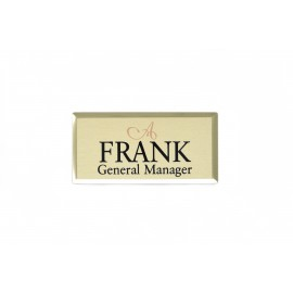 "Ayres 1.5x3"" Beveled Name Tag"