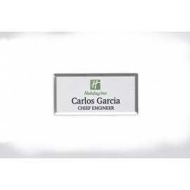 Holiday Inn Silver Beveled Name Tag