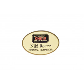 Gold Preferred Metal Name Tag