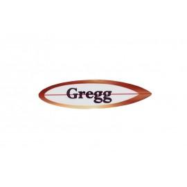 Custom Shape Surfboard Glossy Unisub Name Tag