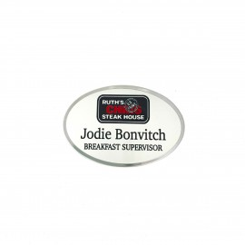 Ruth's Chris Preferred Silver Oval Name Tag