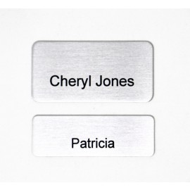 Kumon Satin Silver Aluminum Name Tag (will include Kumon logo top center)