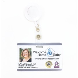 White Plastic Instabadge Photo ID with slot