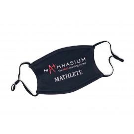 Mathnasium Two Layer Logo Kids Mask - Black Mathlete