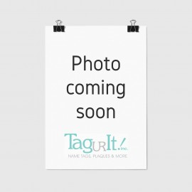 Custom Aluminum ID Tag with Slot, Two Sided