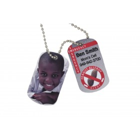 Two Sided Emergency Contact Dog Tag